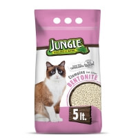 Jungle Bentonit Kedi Kumu Natural 5 Lt