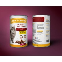 Little Friends Tavuklu Kedi Konservesi 415gr x 24 Adet